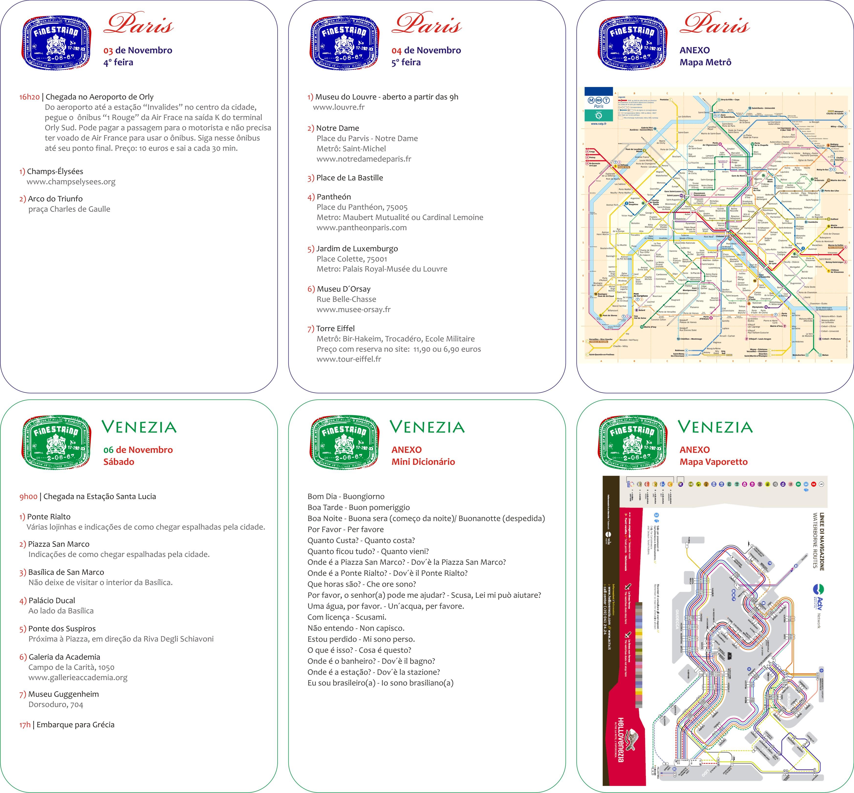Venezia Vaporetto Mappa e de Vaporetto em Venezia